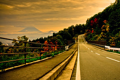 The Road to Fuji (TheJbot) Tags: road street sunset japan fuji  hdr yamanashi jbot lightroom  thejbot