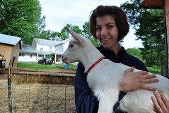 Karla and baby goat