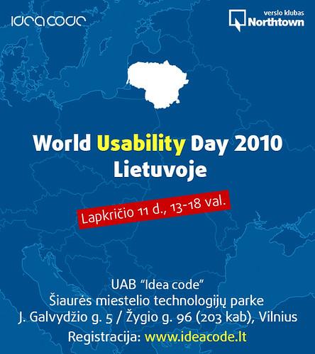 World Usability Day 2010 Lietuvoje - lapkričio 11d.