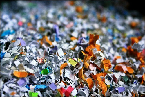 What Catches My Eye: In Order To Avoid Identity Fraud We Have A Confetti Shredder