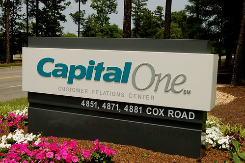 Capital One corporate signage
