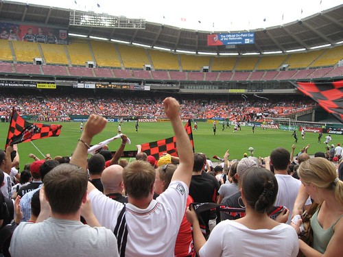 DC United Fans and Flags