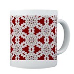 Red & White Lace Coffee Mug (Crystal Writer) Tags: pictures christmas original light red abstract reflection green tile creativity snowflakes mirror design pattern crystal unique crochet creative picture optical kaleidoscope mandala christian creation illusion kaleidescope writer write create capture tessellation opticalillusion pleasant cafepress redgreen kaleidoscopic kaleidoscopes redandgreen christmassy christmascolors siliconmirror 10millionphotos camaginations wwwtorporcom crystalwriter christianwriter allkscopes