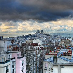 Montmartre on a cloudy day HDR | Paris, France | davidgiralphoto.com (David Giral | davidgiralphoto.com) Tags: city urban david paris france skyline buildings landscape nikon bravo montmartre coeur capitale d200 ville sacr urbain appartments giral nikond200 appartements 18200mmf3556gvr flickrsbest holidaysvancanzeurlaub bestofr