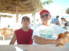 Hector and Ron at Progreso, Mexico (ronnc71) Tags: johnson ron