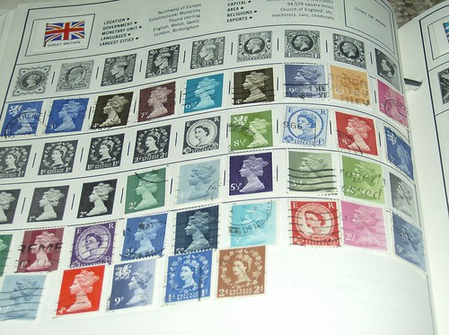 stamp collecting album