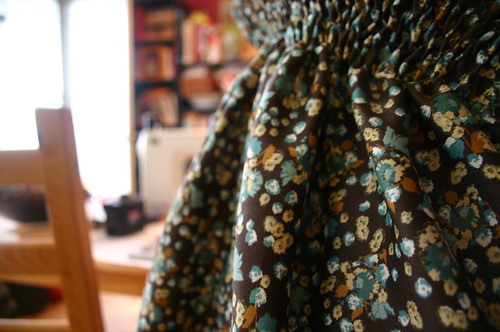 Shirred top, fabric detail
