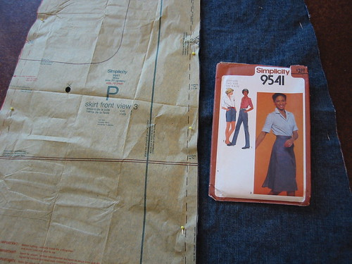 Sewing a wrap skirt