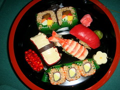 Judy bought me some Kooki Sushi! (sevenworlds16) Tags: sushi cookie candy rice chocolate treat krispy kooki