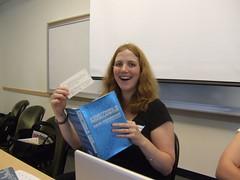 Kate & her ironic bookmark