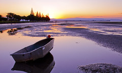 Estuary Magic (shanetee) Tags: sunset newzealand fab sun water boat glow calm estuary nz reflexions breathtaking questfortherest tauranga themoulinrouge blueribbonwinner taurangaharbo