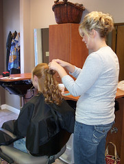 Curls (RedheadRaye) Tags: wedding hair curls preparations stylist