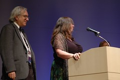 Ben Yalow and Edie Stern accepting for Best Fanzine