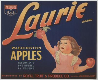 apple crate label