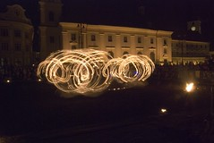 Sibiu - Spectacol 'La Salamandre' #12 (Adrian_I) Tags: show light people night fire dance movement sibiu nikond80 zoomnikkor18200mmvr