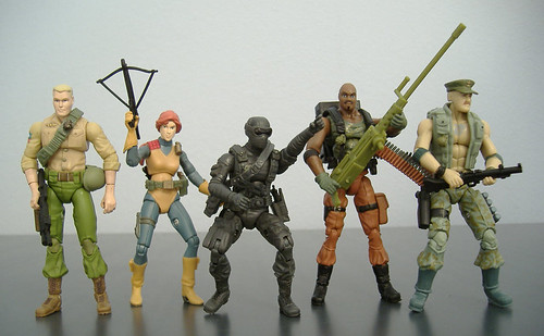 serie G.I. Joe Duke, Scarlett, Snake Eyes, Roadblock, Gung Ho