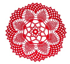 Pineapple Petals Doily 05