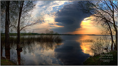 Just Before Sunset (a.Kry) Tags: trees panorama lake nature water landscape evening spring scenery russia pano countries canondslr canoneos         cloudly  50d ruza hdrpanorama hdrpano  canoneos50d   redynamixhdr  akryphotoart ozerninskoye
