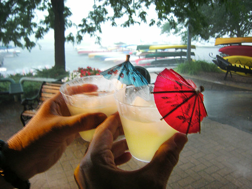 Toasting the Solstice Alongside Lake Wingra in a Torrential Downpour