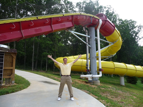 Will Koch and his Wildebeest, the world's longest water coaster