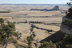 The view from the top of Scotts Bluff Monument in Nebraska (Hazboy) Tags: usa west monument america us midwest nebraska rocks native indian great national american valley navajo plains scotts bluff reservation scottsbluff hazboy hazboy1