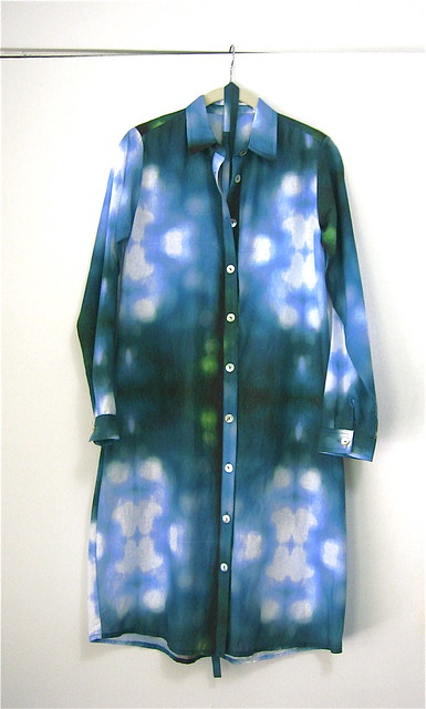 ERMIE Bokeh Print Shirt Dress