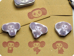 Cheburashka letter set stationery