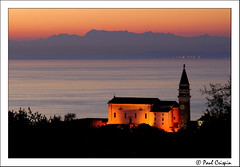 St Georges Church in Piran (Ducatirider -) Tags: sunset sea mountains church rio river nikon bravo raw searchthebest watch slovenia igreja piran d200 adriatic timedexposure relogio stgeorgeschurch nikond200 nikonstunninggallery capturenx ducatirider abigfave anawesomeshot colorphotoaward aplusphoto superbmasterpiece paulcrispin