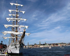 A big Tall Ship from Mexico in Stockholm (DenesG1-still off, computerproblems) Tags: sea summer water festival sweden stockholm harbour 100v10f sverige tallship 2007 smrgsbord sailingboat canonpowershota610 10faves canons5is denesg1