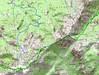 Carte de la Cagne Nord et parcours de Vignalella à Apaseu
