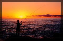 Challenge (Matthew Fang) Tags: man color colors beautiful silhouette sunrise d50 coast fishing nikon searchthebest image seacoast blueribbonwinner supershot abigfave worldbest anawesomeshot impressedbeauty superbmasterpiece diamondclassphotographer flickrdiamond frhwofavs