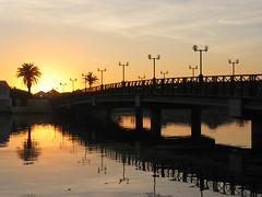 Abridged Sunset (Robert Lurie) Tags: bridge sunset concrete capetown lagoon milnerton woodbridgeisland abridged
