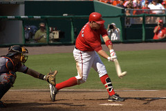The Game Winner! (Scott Ableman) Tags: ball d50 hit published baseball bat dcist nationals rfkstadium mlb washingtonnationals walkoff rbi gamewinner 18200mmf3556gvr ryanzimmerman gamewinningrbi