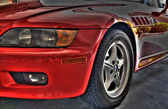Z3 Front Left (Paul Gaither Photography) Tags: red convertible bmw z3 hdr hdri sportscar bmwz3 redconvertible d80 hdrsingleraw nikond80 redsportscar