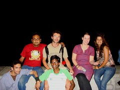 The bunch of us on Marine Drive (Mezzotint) Tags: with meetup couch ganesh surfers puja