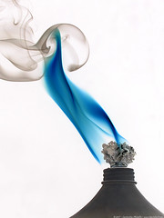 blue flame (atomicshark) Tags: blue macro nikon smoke flame coolpix inverted wick 4500 atomicshark