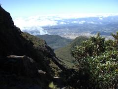 Climbing Vulcan Baru from the Vulcan side