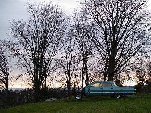 Somehow this photo of an old car on North Beacon Hill captures much of the post-holiday feeling of a Seattle January. Photo by Matthew Rutledge.