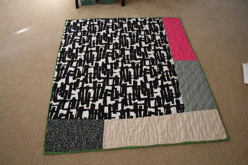 Back of Hot Pink Quilt