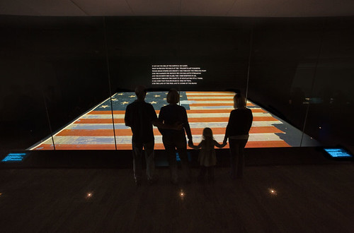Visitors view the Star-Spangled Banner