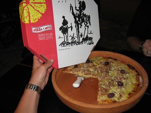 Delicious Sao Paulo pizza!