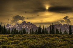 "Grand Tetons sunset (IronRodArt - Royce Bair (""Star Shooter"")) Tags: searchthebest grandtetons tetonrange grandtetonnationalpark tetonsunset tetonssunset"