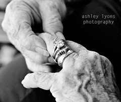 My Grandmother's Wedding Rings (Ashley Lyons Photography) Tags: blackandwhite texture hands rings wrinkles nikond80