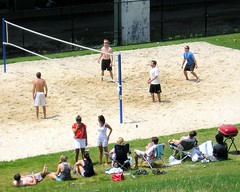 Beach Volleyball, Riverside Park South, New York City (jag9889) Tags: park city nyc people ny newyork sports field sand manhattan south upperwestside riversidepark 2010 trumpplace y2010 jag9889