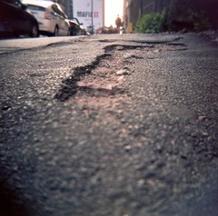 (H.L. Edwards) Tags: nyc film holga pavement 220 holga120n kodakportra400nc
