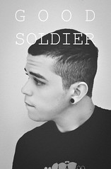 Hair Style (Dan Queiroz) Tags: white haircut black eye soldier good military style pb chillibeans eargauges danqueiroz nikond5000