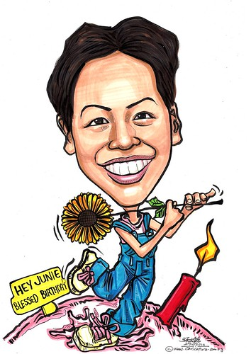 Happy Birthday caricature A3