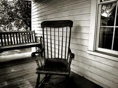 Missing Grandpa (Scott Hovind Fine Art) Tags: blackandwhite vintage chair country rustic memories memory porch rockingchair emotional sorrow mournful missinggrandpa hovind