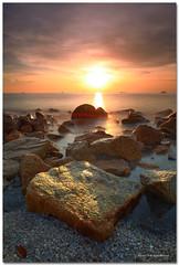 Fire up ! (SHAZRAL) Tags: canon eos 5dmark2 ef1740mmf4lusm hoyandx400 nd400 cokin p121 gnd8 sunset jeram pantai beach selangor malaysia shazral azralfikri filter