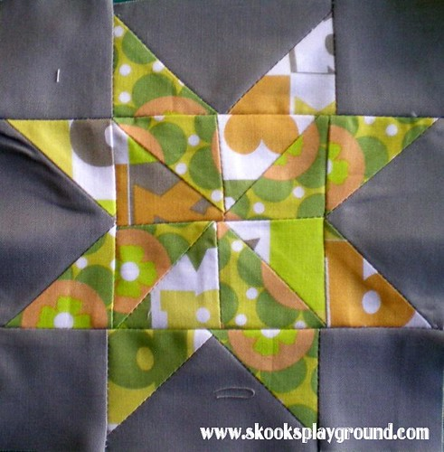 Sawtooth Pinwheel Star Block #4